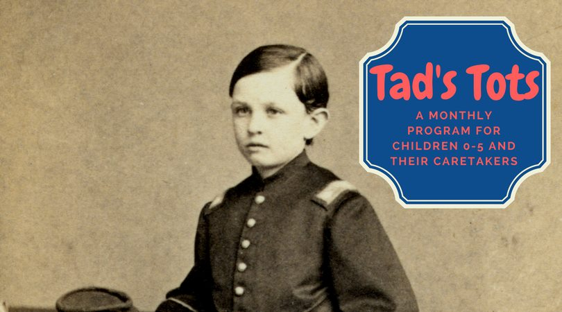 Tad's Tots is the Abraham Lincoln Library and Museum's free monthly program for children 0-5 and their caretakers.  July's short program introduces children and their caregivers to the life of Abraham Lincoln. My Little Golden Book About Abraham Lincoln will be read, and a show-and-tell of a few items in the museum gallery follows the story. Following the tour, children and caregivers can make a special Abraham Lincoln craft to take home.  Registration is required. Please see ticketing on this page, or contact Program Coordinator Natalie Sweet at natalie.sweet@lmunet.edu.