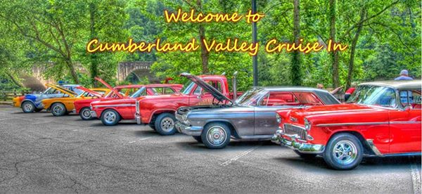 "***Free Event***  October 7th 2017 Everyone is Invited!  All Cars, Motorcycles, Tractors or any other show car is invited to "" Cumberland Valley Cruise In to Cumberland Falls State Resort Park Car Show"" This is a fun event with over a mile of classic cars escorted by a classic Kentucky State Police Car to Cumberland Falls for the car show. Show will last from 11am till 3pm with Gary Englands "" Sound Machine"" Fun and Free Event for all! Line up will be at 10:00am at the Corbin Tech Center parking lot behind Applebee's off exit 25 just below the Corbin Arena.!   Visit our Offical FaceBook Page and our website at:  www.CumberlandValleyCruiseIn.com   www.facebook.com/cumberlandvalleycruisein"