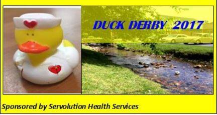 Join us at the creek in Cumberland Gap, TN on September 30th for Duck Derby 2017!   Ducks are $5..00 each*. Buy 5 ducks ($25.00) and receive a free t-shirt! T-shirts will also be sold for $10.00. Ducks can be purchased at Servolution Helath Services; Papa Chum's Music and Rarities; Labor Day in the Park; and various other locations. Follow us on Facebook for more information.  The duck that wins the derby will be awarded $500.00! Many other prizes will be awarded for runners-up.   Several other events will be going on at the same time in the Gap.   All proceeds from the Duck Derby will go to support Servolution Health Services.   *You must be 18 or older to buy a duck.