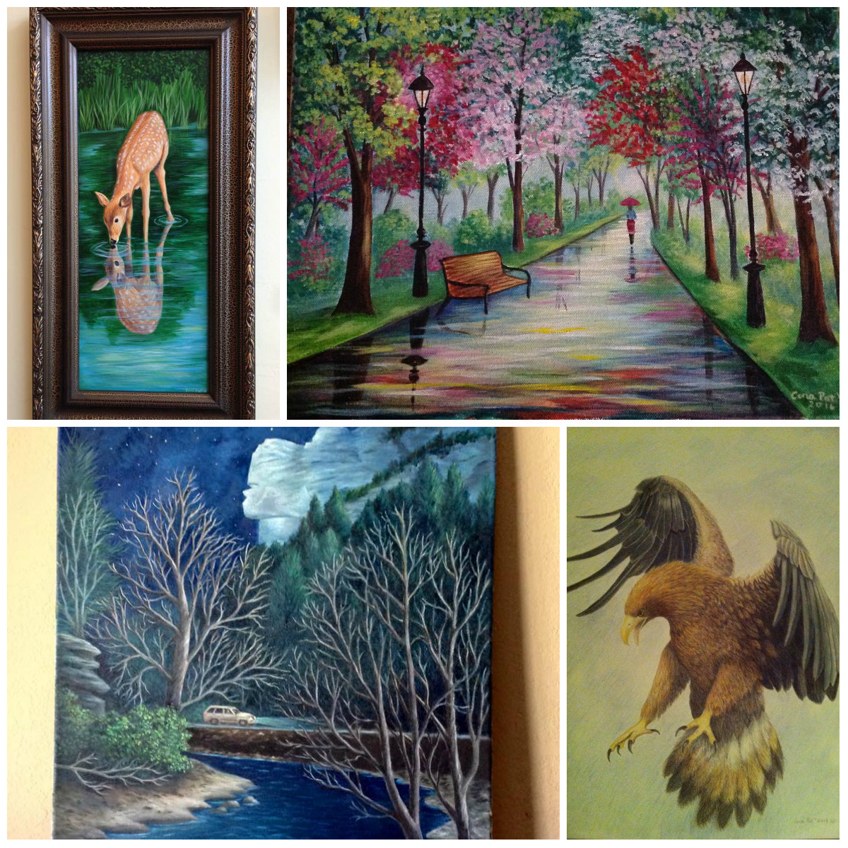 The Art of Cora Pat  Cora Pat Howard studied art at Lincoln Memorial University and Southeast Community and Technical College. She is a Freelance artist and instructor come see and purchase her paintings at the Cumberland Gap Artists' Co-Op in Cumberland Gap, TN.