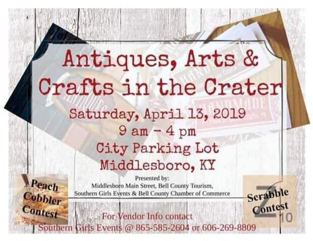Vendors of fine antiques, handmade arts, crafts and food please contact Southern Girls Events @ 865-585-2604 or 606-269-8809