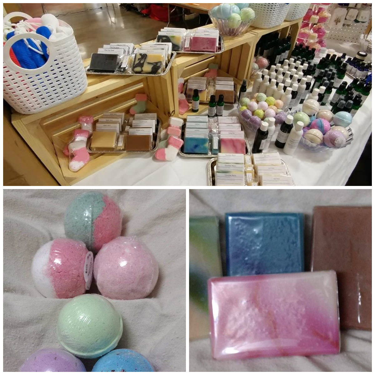 Mother Creations   Mother Creations is a large group of crafters with over 120 years combined experience that make a variety of items. https://www.facebook.com/1MotherCreationmaking, bath bombs, shampoo, castile soap, bath soaks, and nearly anything to get you clean. We make our own essential oil blends- for cleaning, and beautiful scents. We make jewelry and beaded items, including pearl knotting and beaded ornaments. We offer soy candles and turned wood items for household use and home decor. We are also the home of Grandma's Kitchen Butters, Jams, and Jellies. Grandma's focuses on using as much local produce as possible and is home to a hard to find dandelion jelly. Our talents include: soap Contact information:  Crystal Morgan PO Box 242 Mascot, TN 37806  865-257-7107  MotherCreation18@gmail.com   www.mothercreations.com    https://www.facebook.com/1MotherCreation