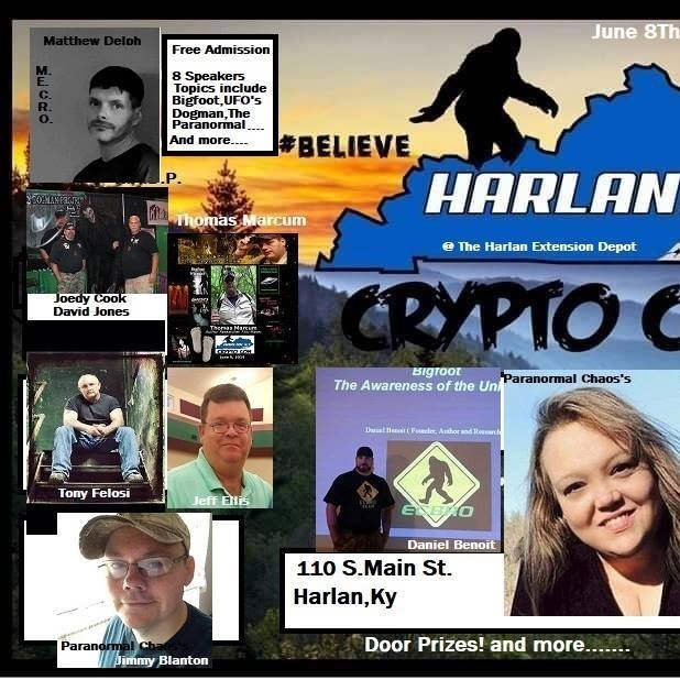 On June 8, 2019, visit the Depot in downtown Harlan to explore the creepy, mysterious, and strange creatures some say live in these mountains. There is no charge for admission and topics discussed will include Bigfoot, UFO's, Dogman, The paranormal and more!For more information click here.