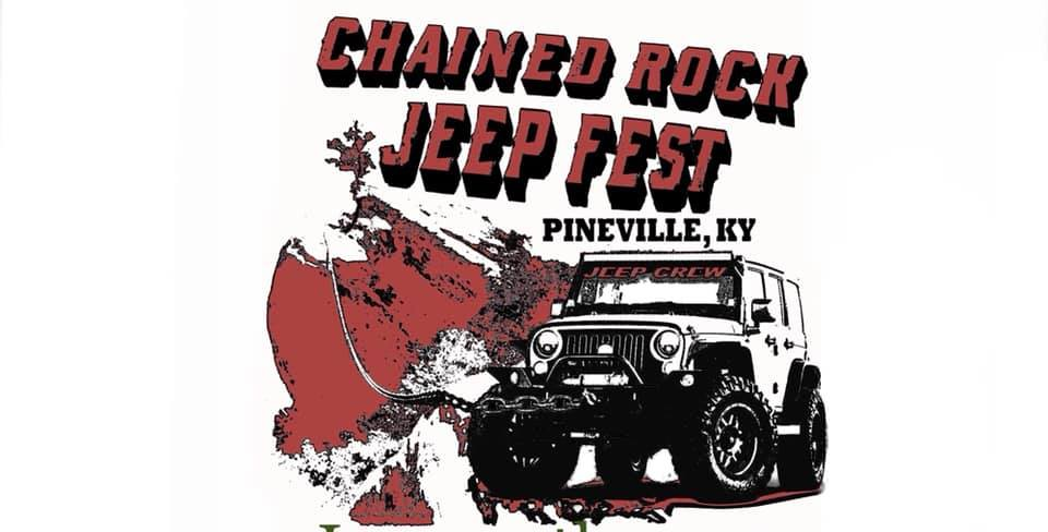 The Jeep Crew, in conjunction with Main Street Pineville, Sauced Craft Pizza, and Bell County Tourism present the inaugural Chained Rock Jeep Fest June 15th and 16th in downtown Pineville.  The event will feature trail rides on Bell County's 70,000 acres of free-to-access public lands. A Jeep show-n-shine for folks to display their Jeeps, and live music in downtown Pineville! Plus great food from Sauced, Jeep product vendors, inflatables for the kids, and much more!