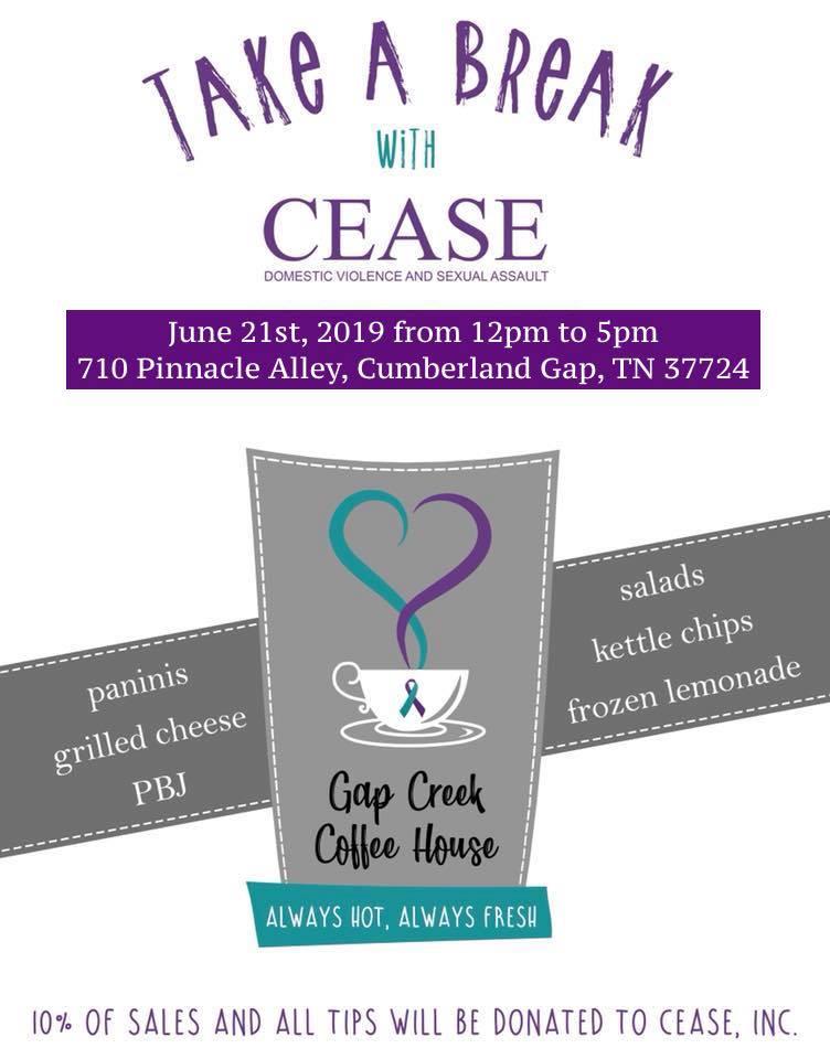 Gap Creek Coffee House  710 Pinnacle Alley, Cumberland Gap, Tennessee 37724