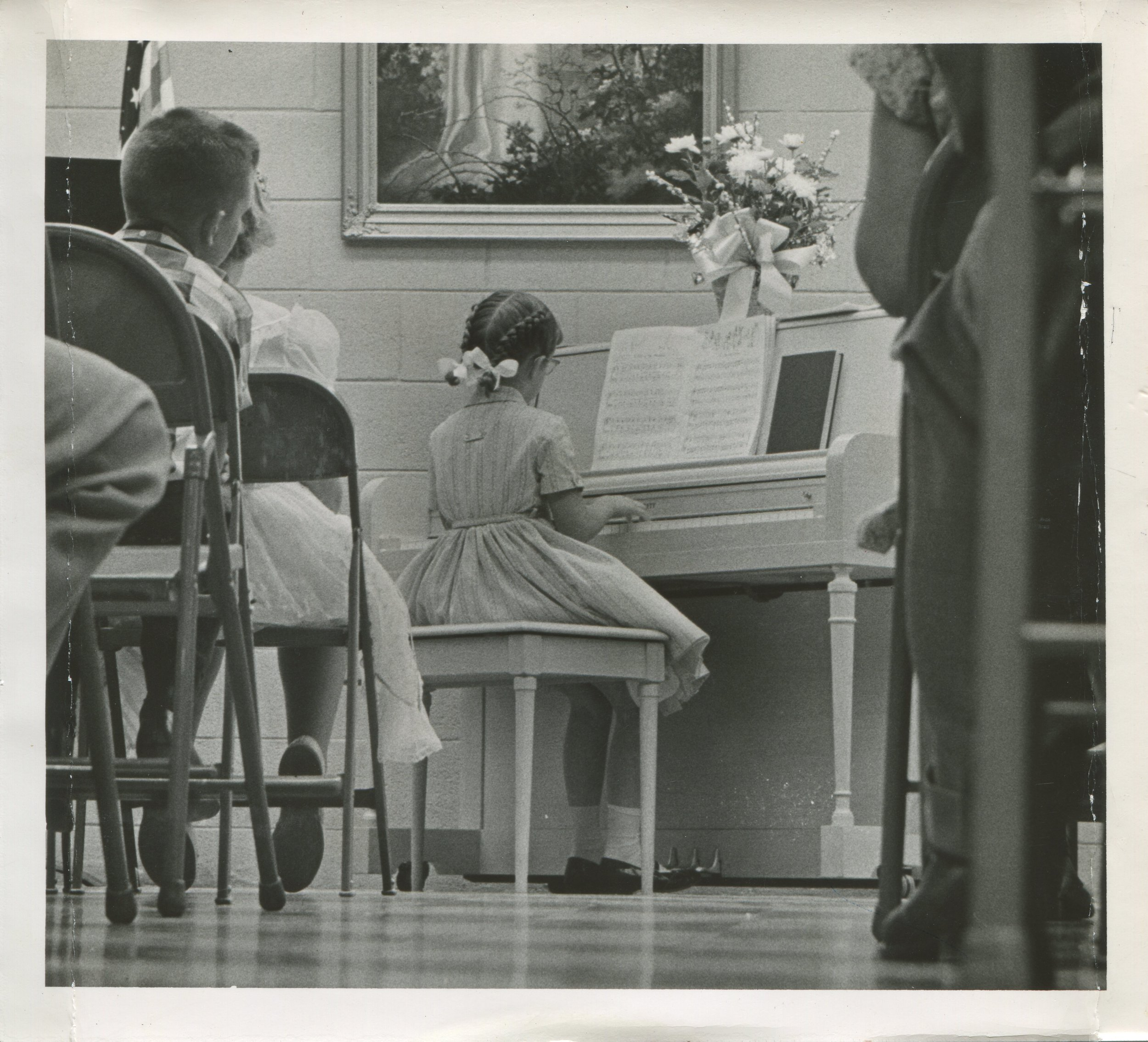 Mama playin' piano at church as a girl