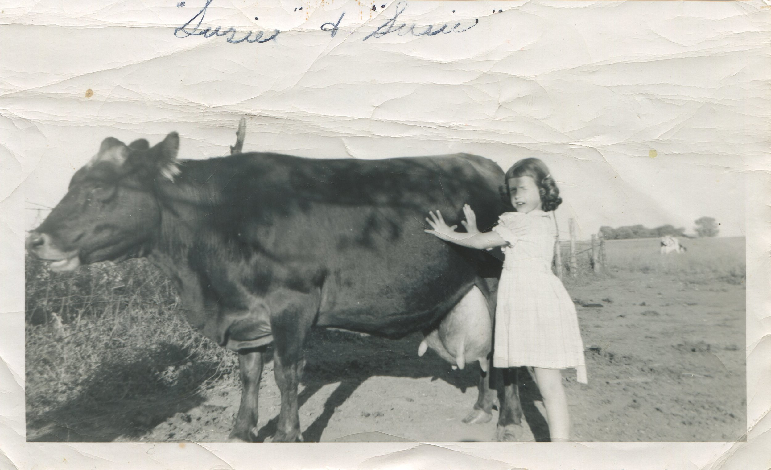 Mom & Susie the Cow - 1957.jpg