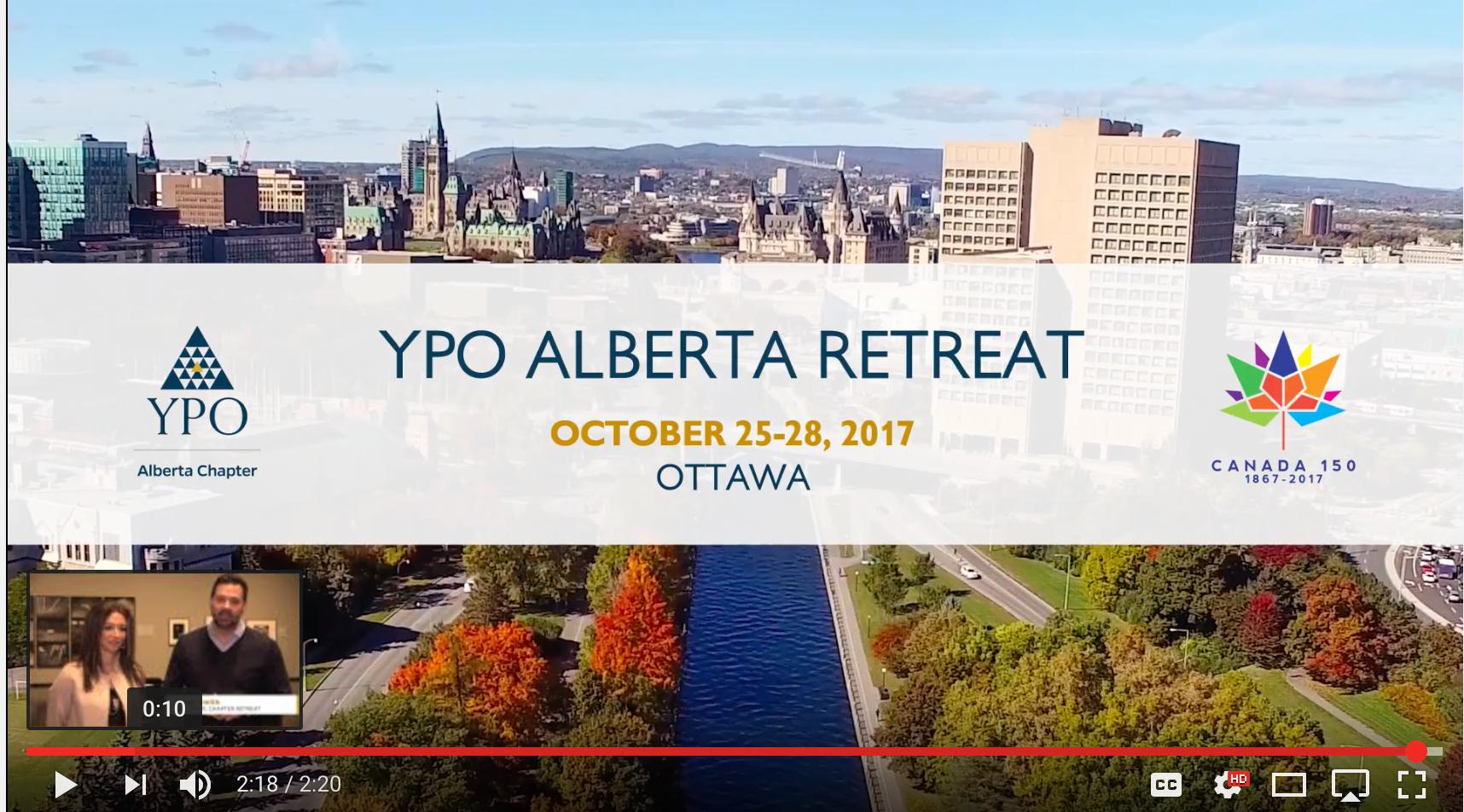 YPO Alberta Retreat Promo