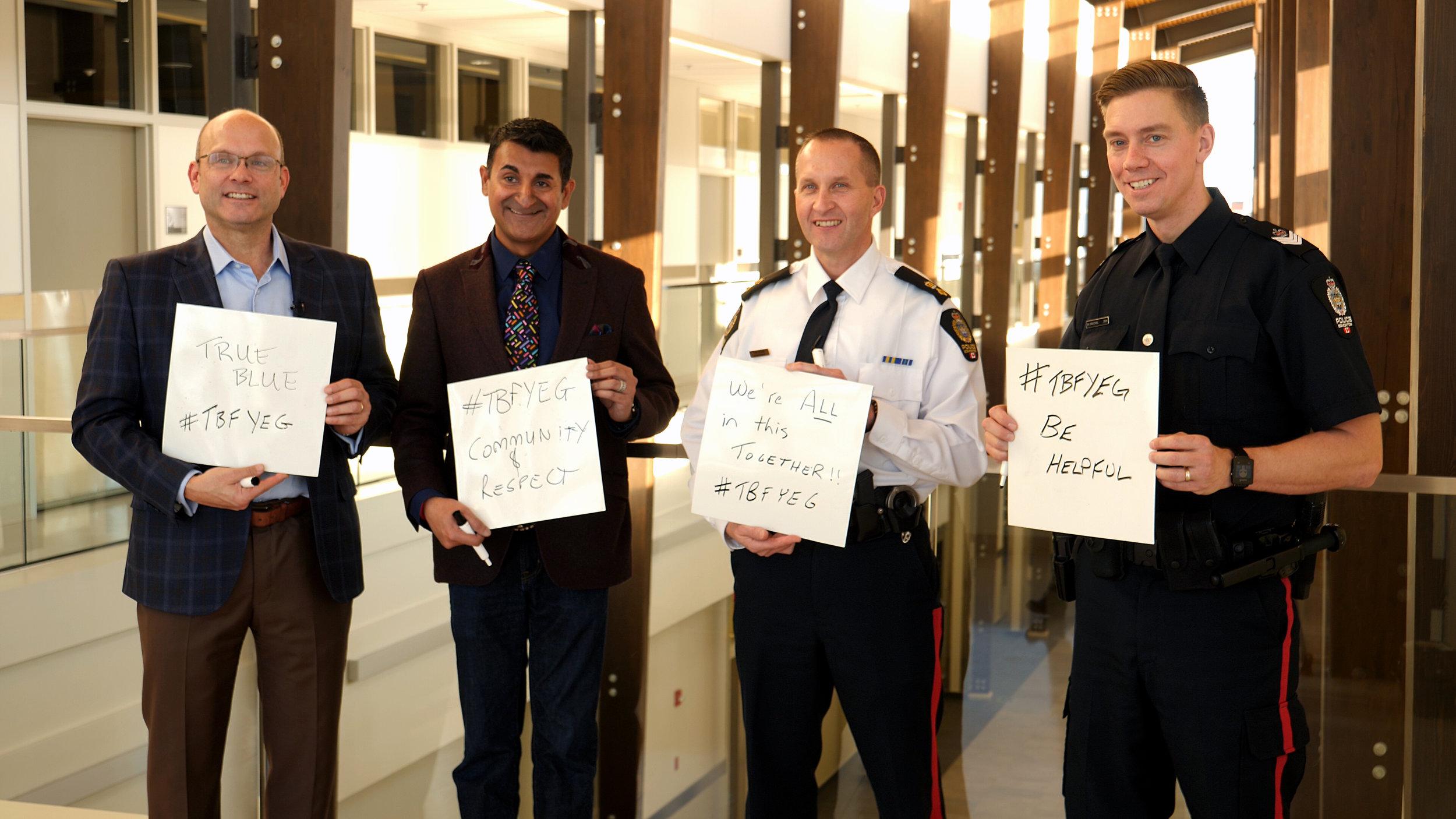 Oilers' Peter Chiarelli with Edmonton Police Foundation