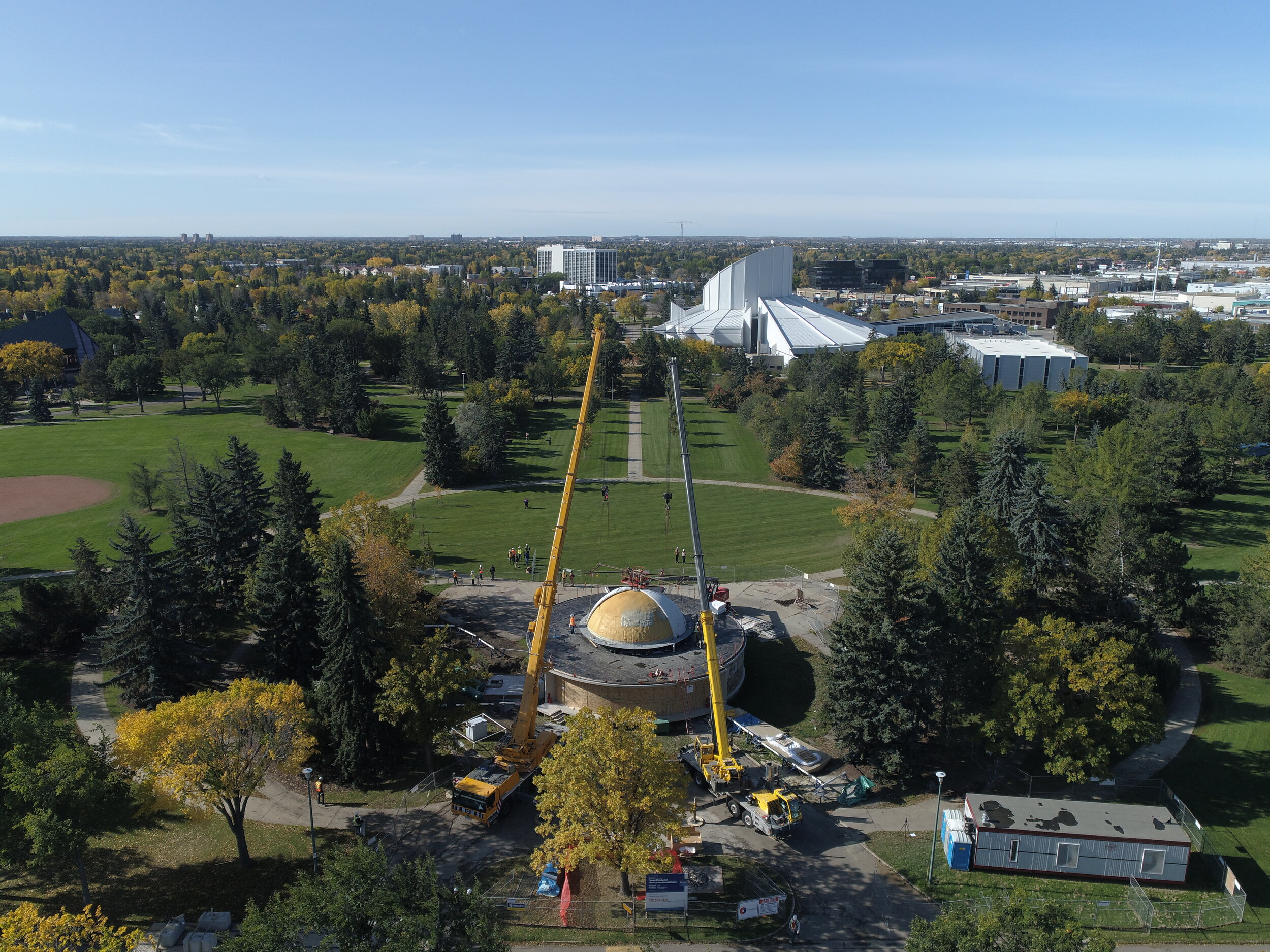 Queen Elizabeth II Planetarium Dome Installation