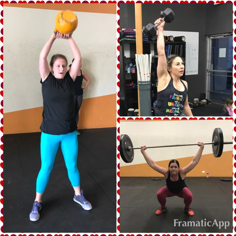Celebrating our Moms who CrossFit this week in honor of Mother's Day! Here's three Mamas who truly lead by example!! Josie, Sheri and Kathryn!