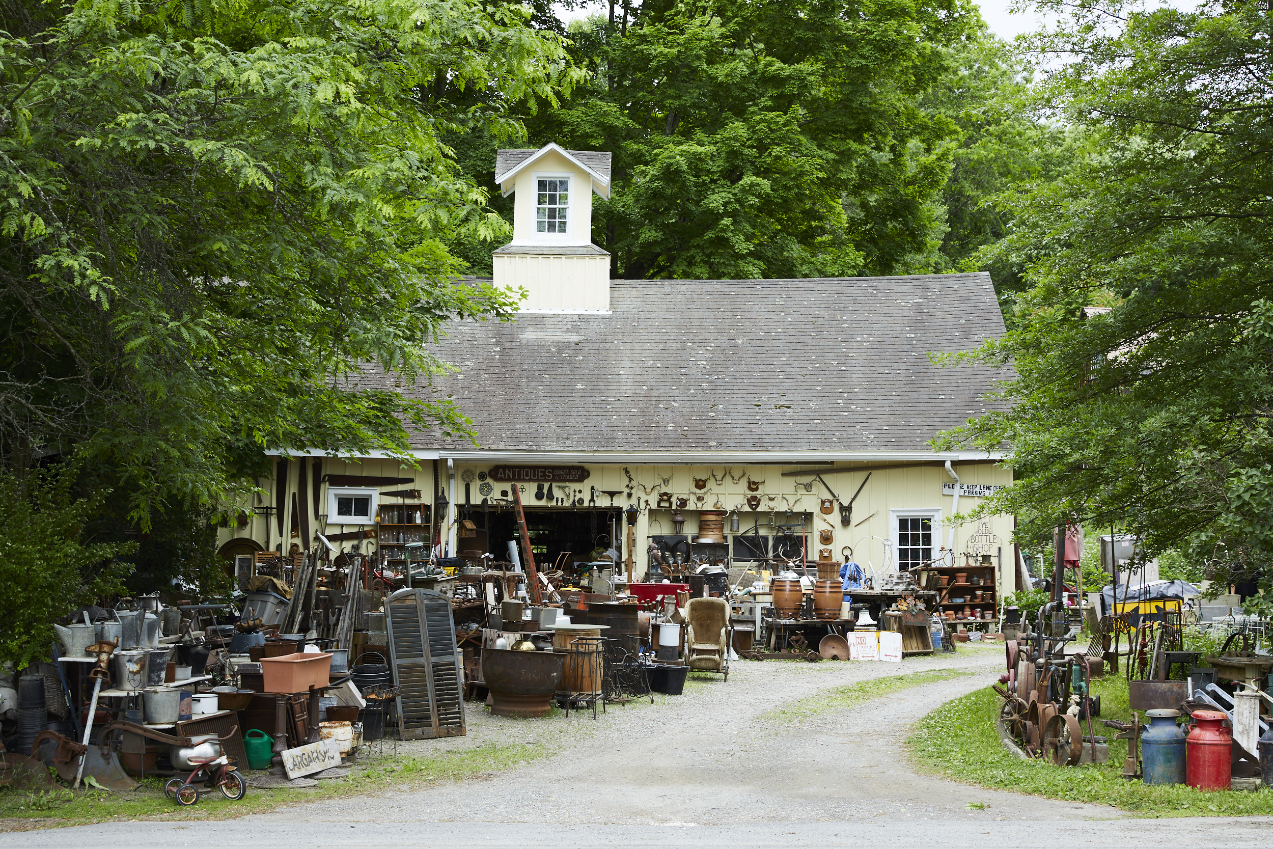 Bottle Shop Antiques on the drive up to Millerton, in Millbrook, New York.