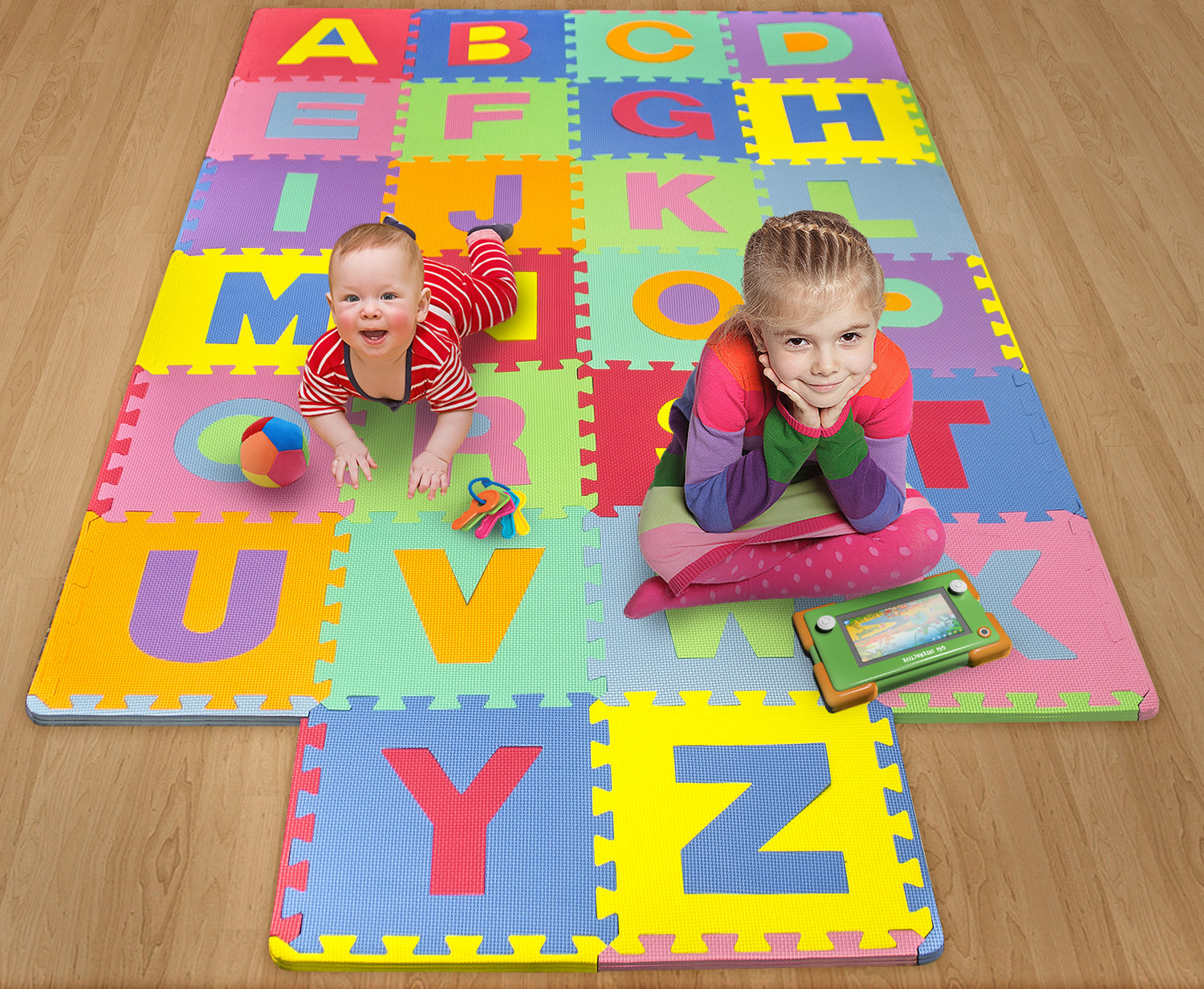 Foam Mat Of Alphabet Puzzle Pieces Great For Kids To Learn And Play Interlocking Puzzle Pieces Matney