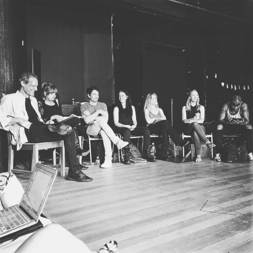 """With the talented cast of """"Bite Me"""", at the final reading before beginning production in August 2017! Congrats to Naomi McDougall Jones; 4 years and 48 drafts later, her vision is finally being shot! I am grateful to be part of it!"""