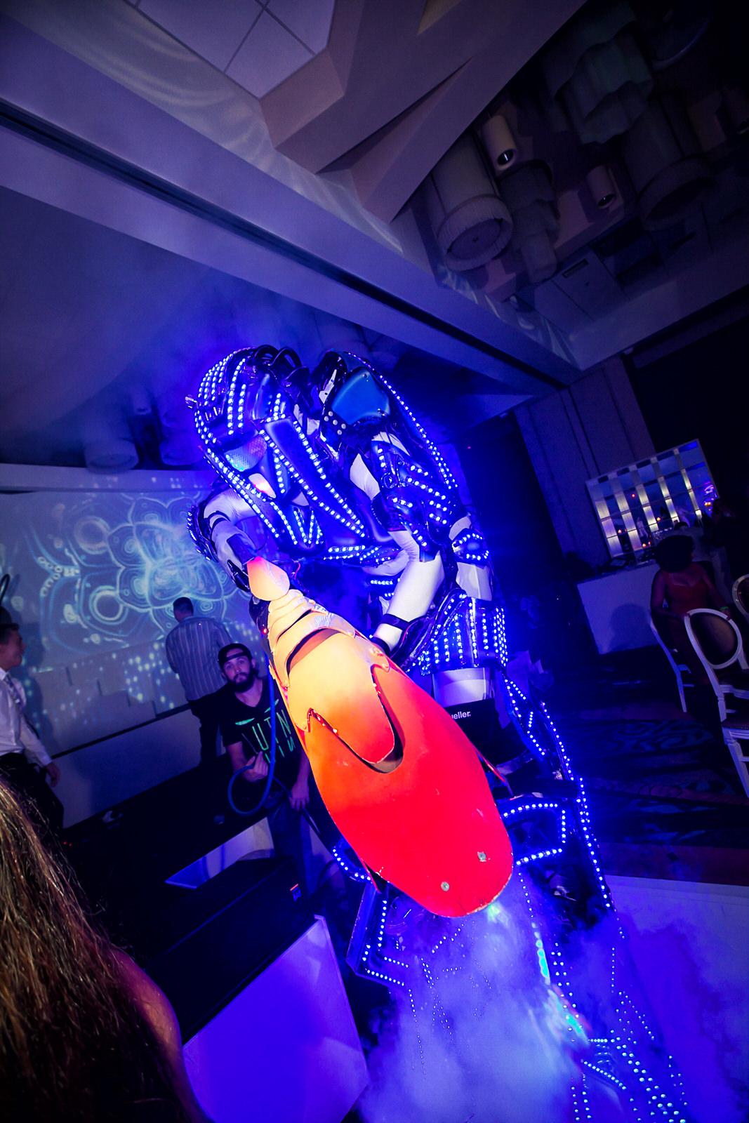 Robot man and his laser gun