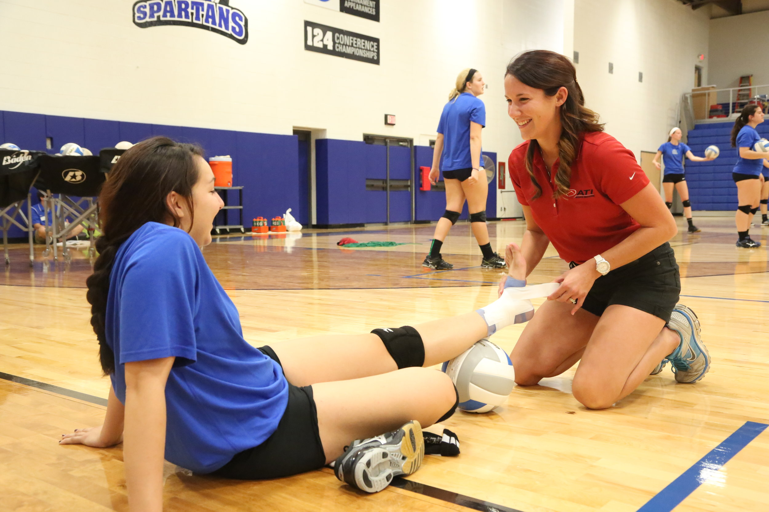Athletic Training - Athletic training is a field filled with many sidelined athletes. Perhaps when you were injured your school athletic trainer was the first to help? Maybe you're interested in the medical field? Athletic trainers (ATs) are highly qualified, multi-skilled health care professionals who collaborate with physicians to provide preventative services, emergency care, clinical diagnosis, therapeutic intervention and rehabilitation of injuries and medical conditions. Have you ever wondered how you can be a part of the medical field and help care for other athletes; all while still being a part of the sports world? Athletic training is great way to do all that! Experience the thrill of being at the games while helping others.