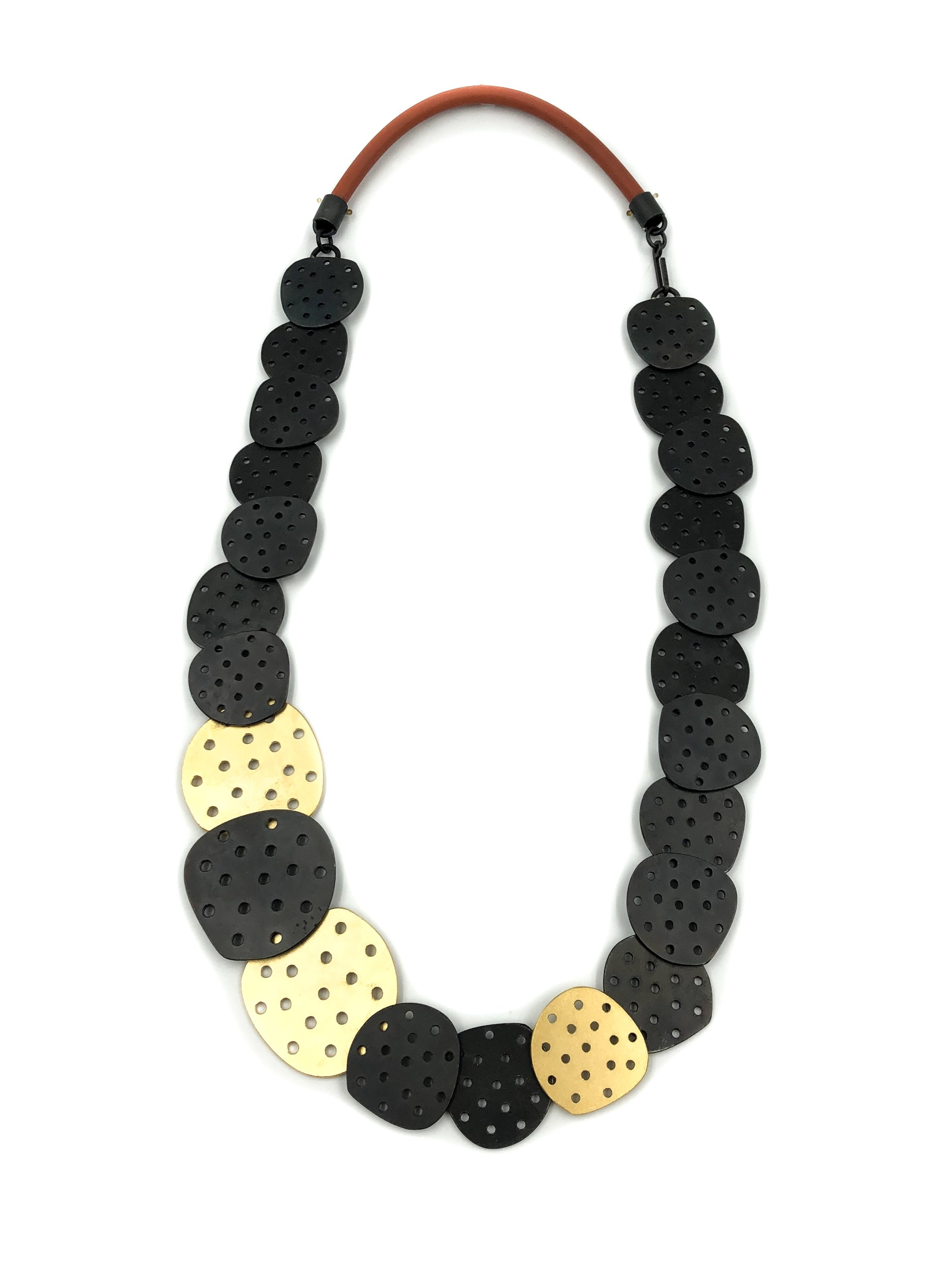Maia Leppo,  Perforated Pebble Necklace