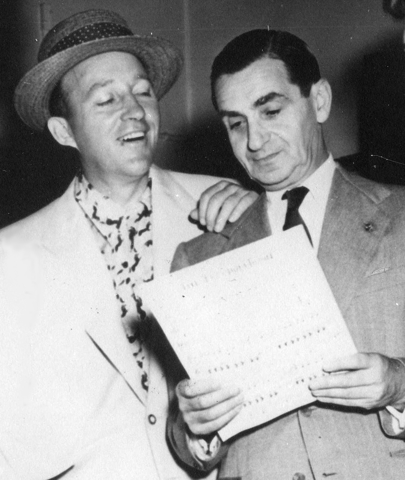 Irving Berlin with Bing Crosby