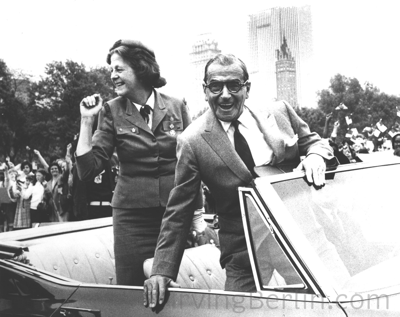 Irving and Ellin Berlin at a Boy Scout's Parade