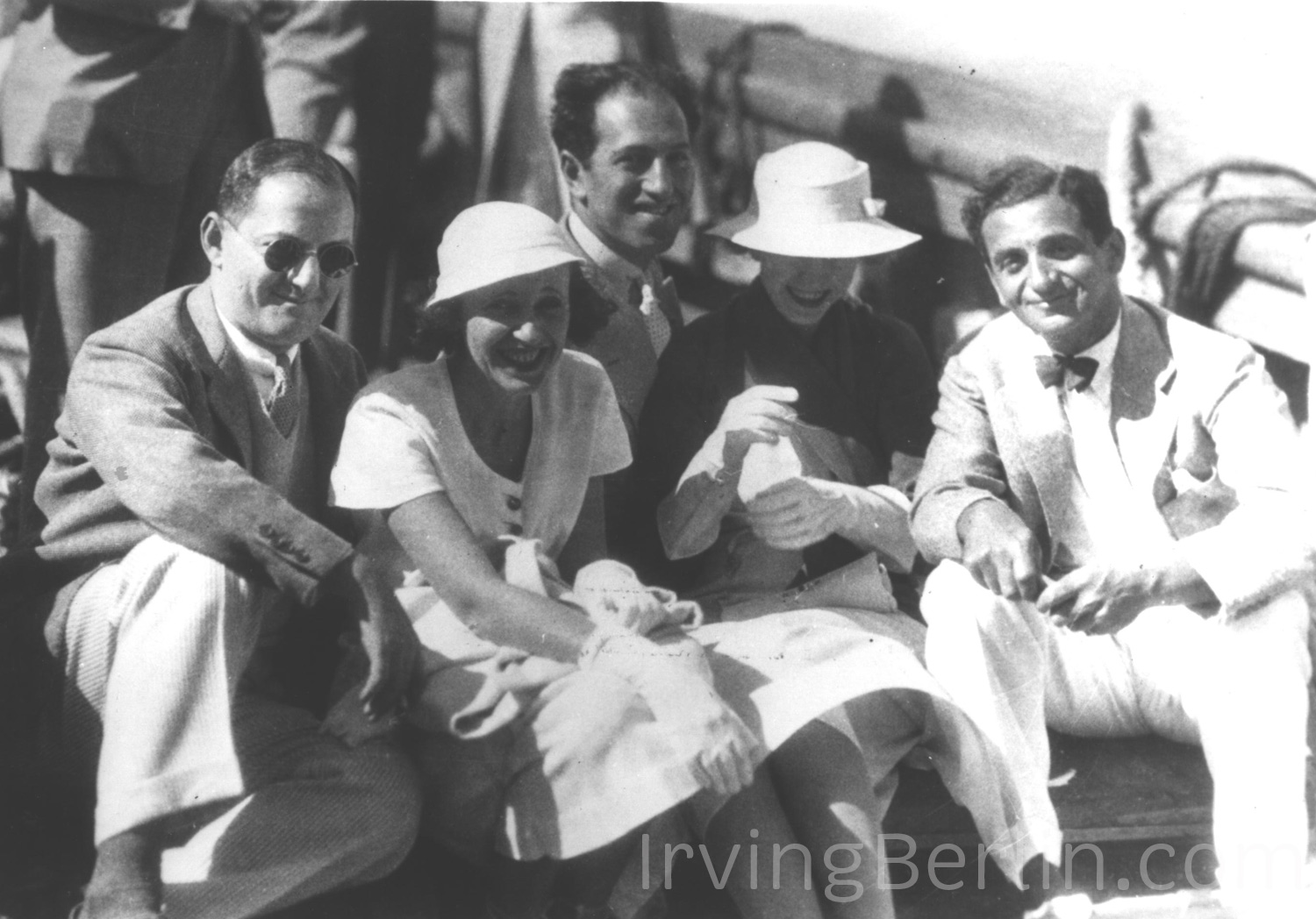 Ira, Leonore and George Gershwin with Ellin and Irving Berlin