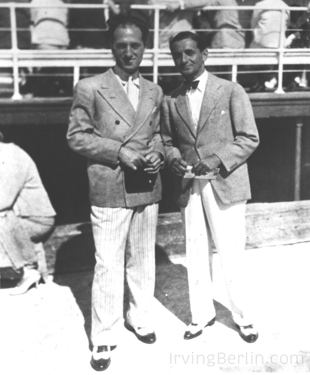 Irving Berlin with George Gershwin