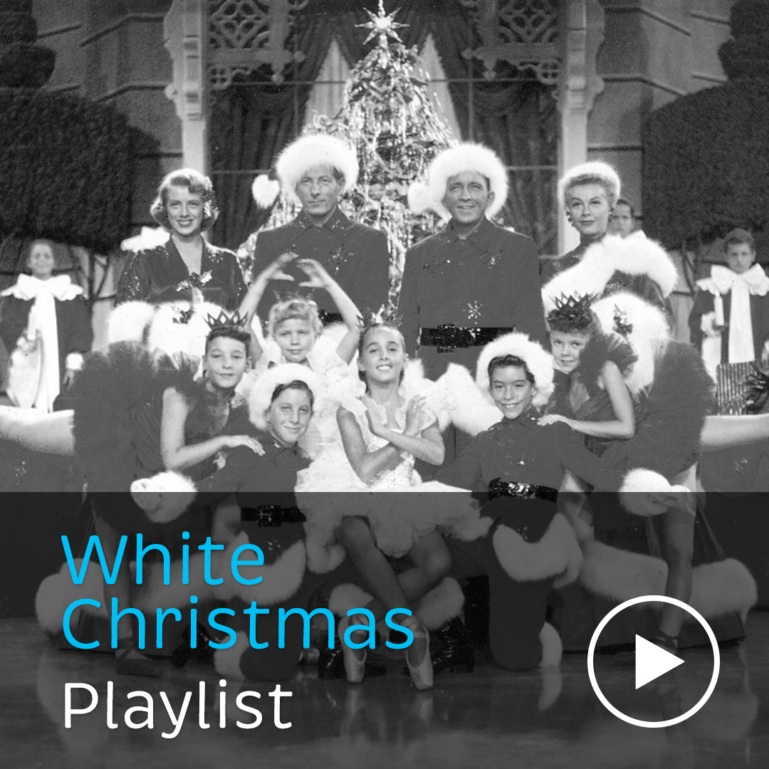 The festive classic 'White Christmas' performed by Bing Crosby, Gwen Stefani, Leona Lewis, Andy Williams and others.