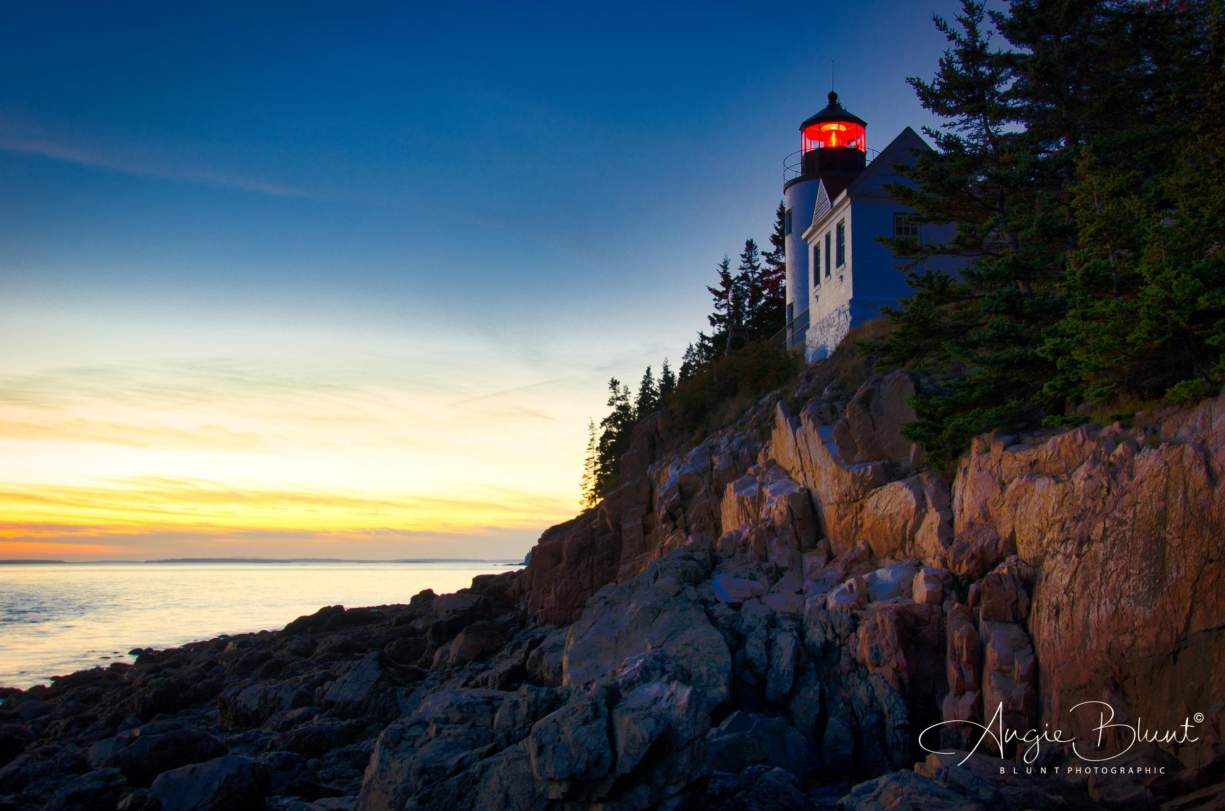 Bass Harbor Light Sunset, Southwest Harbor, Mt. Desert Island, Maine (2016) -  Angie Blunt