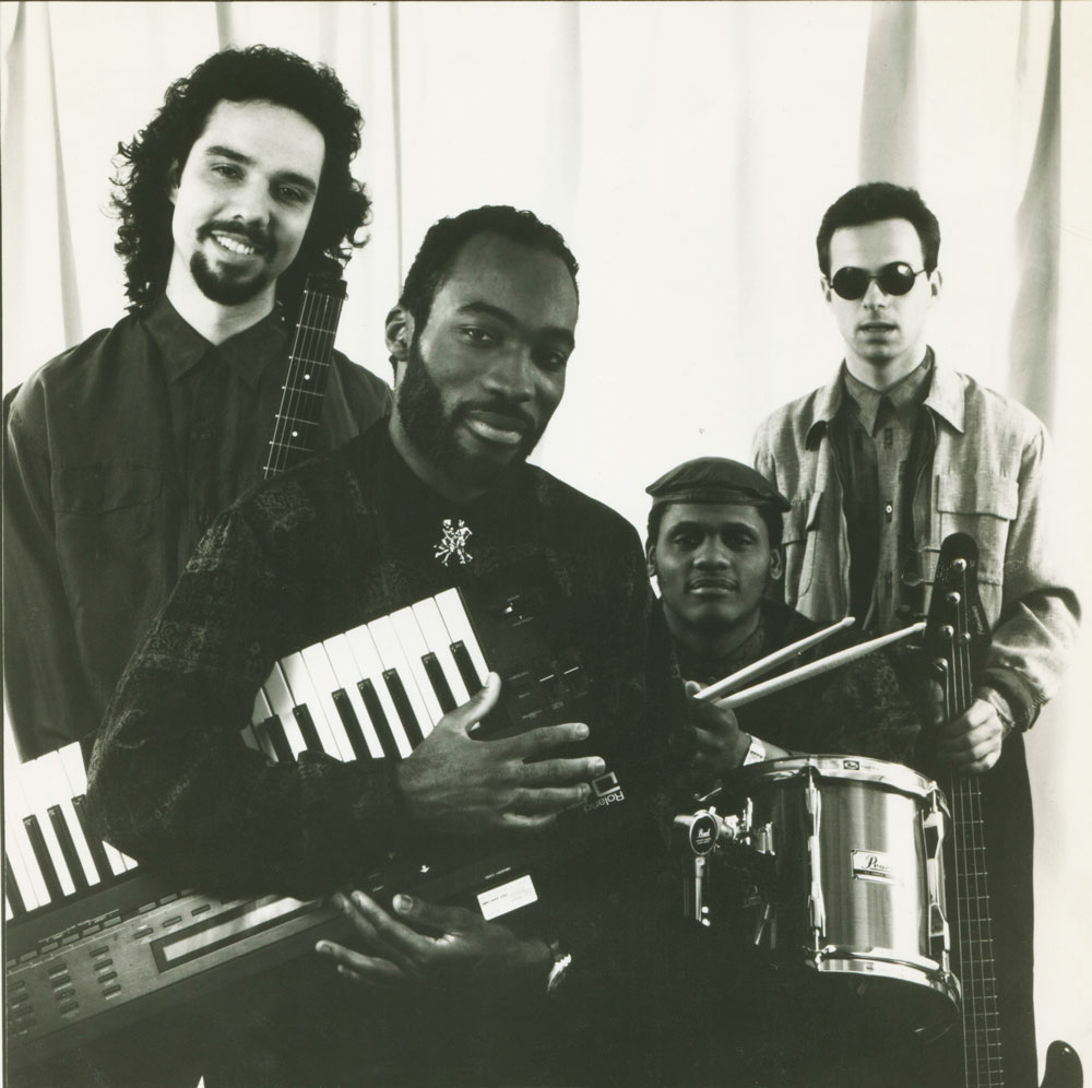 Darrell Grant promoting his album  Current Events  in 1989