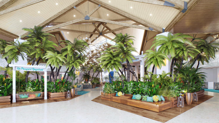 The hotel design is inspired by the lyrics and lifestyle of singer, songwriter and author Jimmy Buffett. (McBride Company / Courtesy photo)