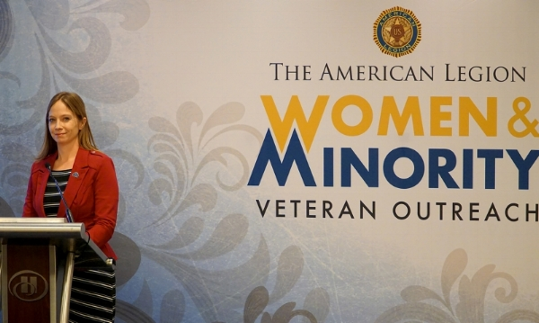 Kayla Williams, VA's director of the Center for Women Veterans, spoke with attendees of The American Legion's Women Veterans Focus Group Feb. 28 in Washington, D.C.