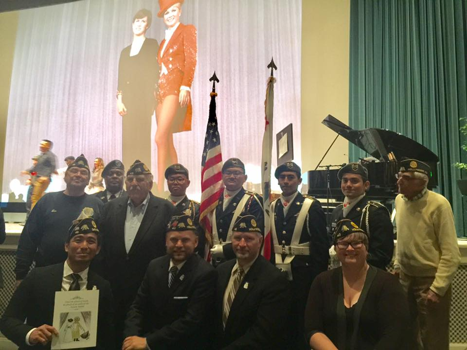 Legionnaires were honored to be asked to attend the  celebration of life for Debbie Reynolds and Carrie Fisher  at Forest Lawn Memorial Park,March 25, 2017.
