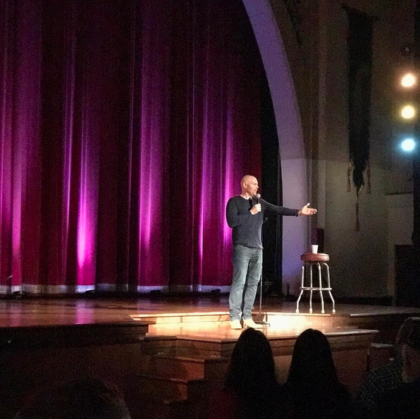 Star comedian Bill Burr headlined the latest installment of   OPERATION COMEDY   in the Legion Theater to a packed house of hundreds on April 7, 2017. Proceeds benefit the Post 43 renovation project!  (photo by Rebecca Murga)