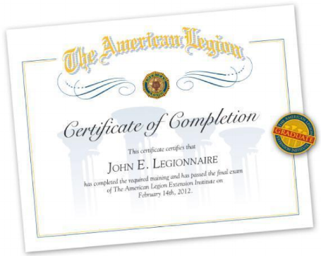 The  American Legion Extension Institute is the American Legion's official training program!Learn about the Legion's history, four pillars, goals, and services! May 20 at 10 a.m.  Details & RSVP