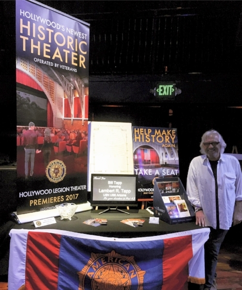 Post 43 represented at the Hollywood Chamber of Commerce's annual Hollywood Expo held at Avalon Hollywood April 26, 2017. Luís Soto and Fernando Rivero of the Legion Theater Committee were out to promote the upcoming renovated theater to the Hollywood business and entertainment communities. Special thanks to Karl Risinger and Jen Crandell for setting up the booth and for Jen's amazing new pop-up banner design!
