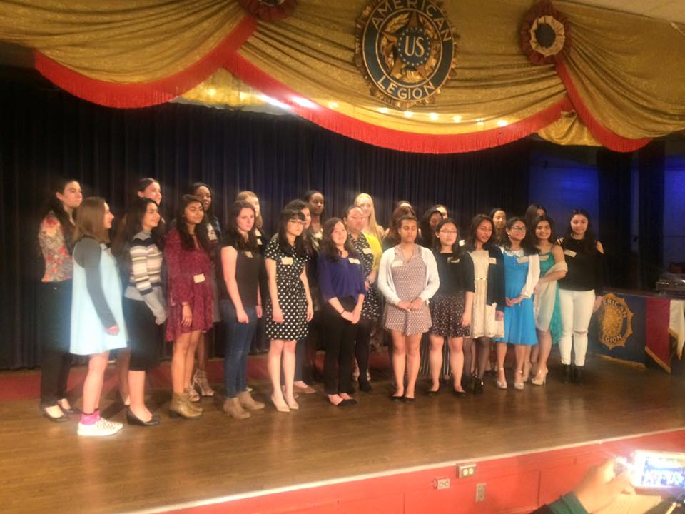 Hollywood Unit 43 of the American Legion Auxiliary hosted a tea May 7, 2017 for 13 young women Unit 43 will sponsor to attend this year's   Girls State  as delegates in Sacramento. Girls State chair, Tamra Brown and the Auxiliary worked hard to fund scholarships for this powerful program that provides an outstanding and unique educational opportunity for young women of California and instills basic ideals and principles of American government.Pictured here are this year's delegates, alternates, and Girls State alumni from previous years. Congratulations, ladies!