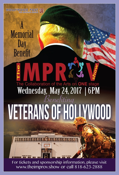 The IMPROV Show  is taking to the stage TOMORROW, Wednesday, May 24 at the Hollywood Post 43 at 7PM. Doors open at 6PM. Here's your chance to get $10 off  as a member of Post 43 . Simply use the discount code Post43 on the check out page and you receive $10 off on any ticket purchase. Regular prices are $25 and $50 at the door. Offer expires Friday May 19, 2017 at 6PM or until the discount seats are sold out.  Get your tickets now! www.theimprov.show/tickets