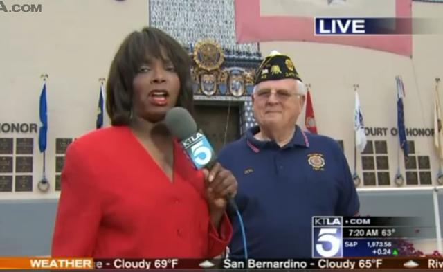 "TOMORROW! Special Appearance on KTLA Morning News Weds., 6/14 for Flag Day! Tune in to the Gayle Anderson's segment, ""Gayle on the Go,"" starting at 6am all morning long for live hits from Post 43!"