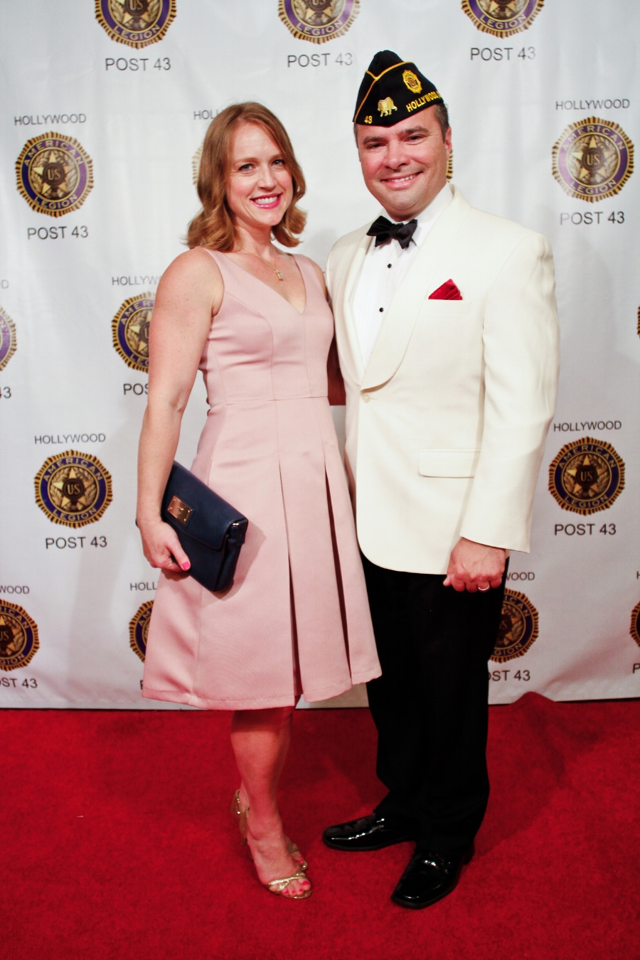 Unit 43 Auxiliary member Jocelyn Rivero and the new commander for 2017-2018 Fernando Rivero on the red carpet at the 2017 Commander's Ball, June 17, 2017.  (photo by David Tenenbaum)  RED CARPET PHOTOS NOW AVAILABLE  HERE !