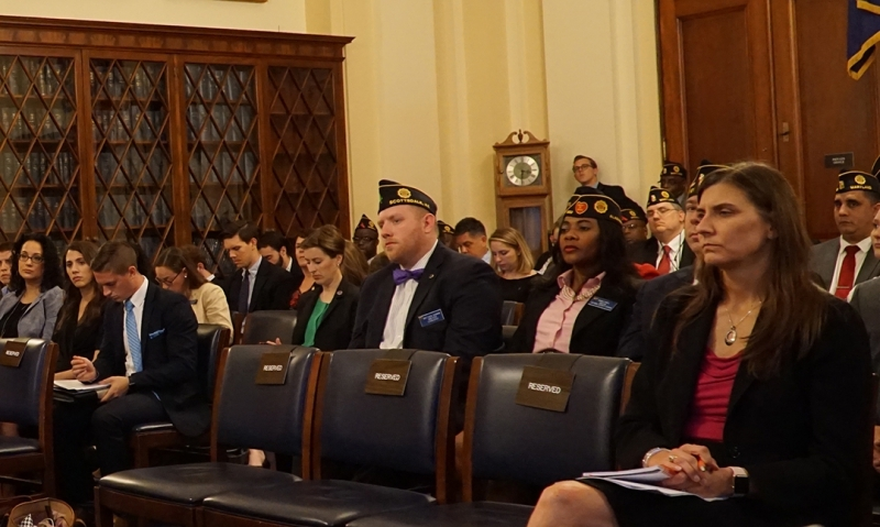 American Legion's National Veterans Employment and Education Division Assistant Director John Kamin testifies before the U.S. House Veterans' Affairs Committee on July 17 in Washington, D.C.