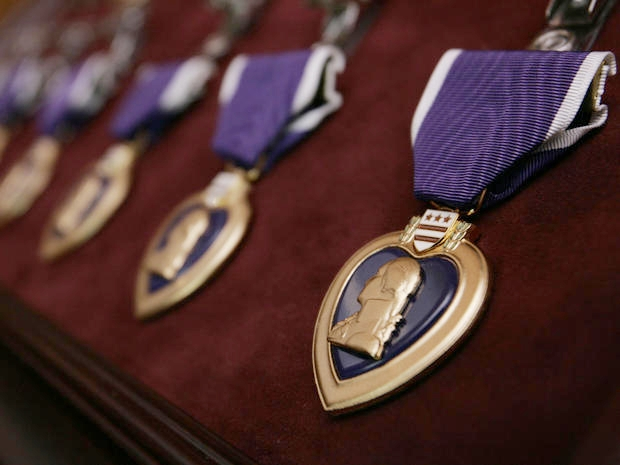 """Today is Purple Heart Day.   On this day in On this day in 1782, Gen. George Washington created the """"Badge for Military Merit,"""" a decoration consisting of a purple, heart-shaped piece of silk, edged with a narrow binding of silver, with the word """"Merit"""" stitched across the face in silver. The Order of the Purple Heart, the oldest American military decoration for military merit, is awarded to members of the U.S. armed forces who have been killed or wounded in action against an enemy. It is also awarded to soldiers who have suffered maltreatment as prisoners of war.    If you know a  #PurpleHeart  #veteran , make sure to offer a """"thank you"""" today."""