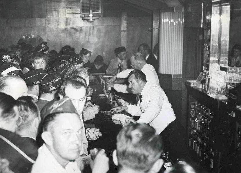 The Art Deco Bar is open Tuesday night from 7pm-1am for legendary libations & camaraderie. Active Duty, Members, Legion family + 3 guests welcome. Check the  online calendar  as dates may change.