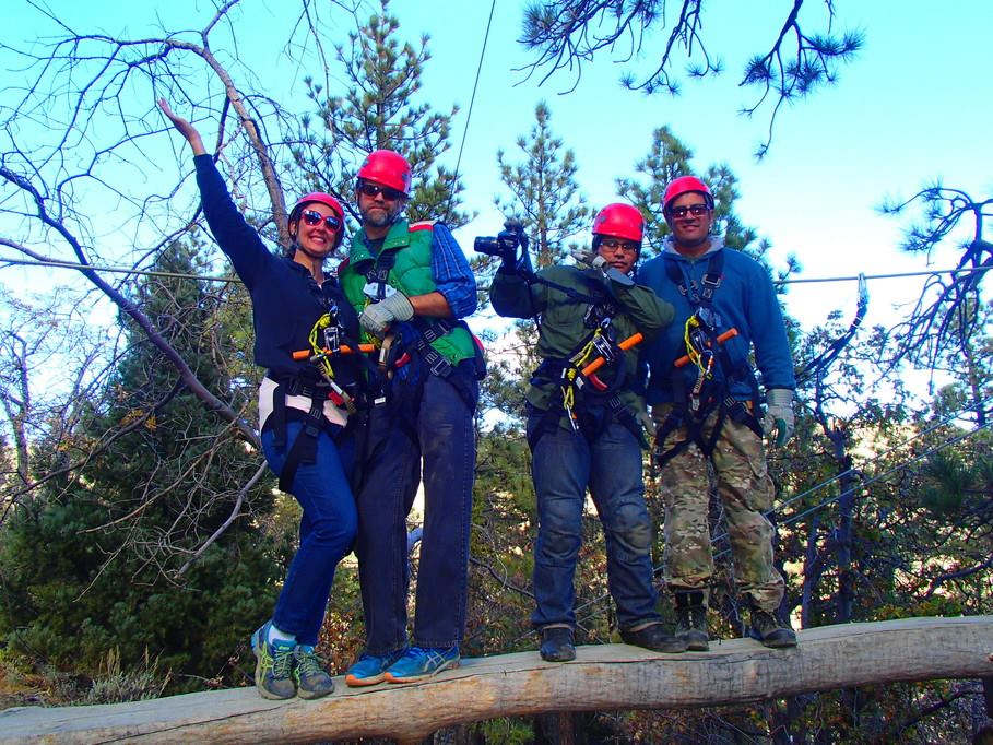 Post 43 members were treated to a day of adventure courtesy of ZipLines at Pacific Crest in the San Gabriel Mountains Nov. 4, 2017.