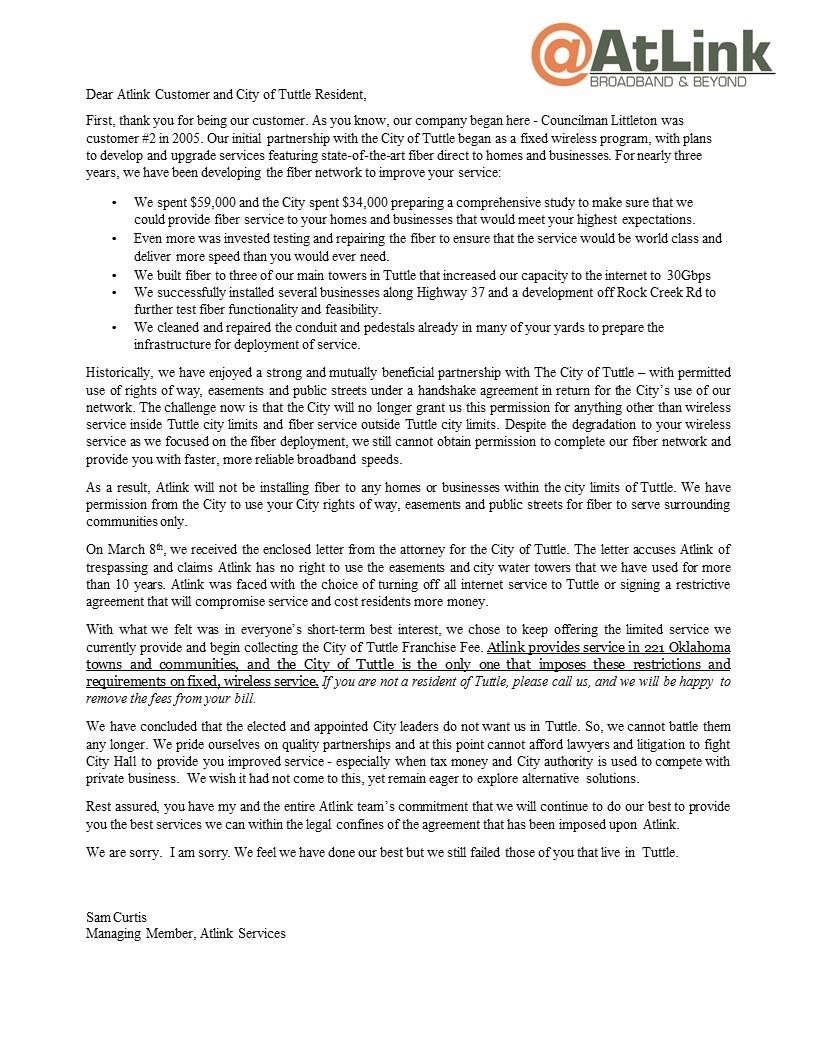 Final Customer Letter 1
