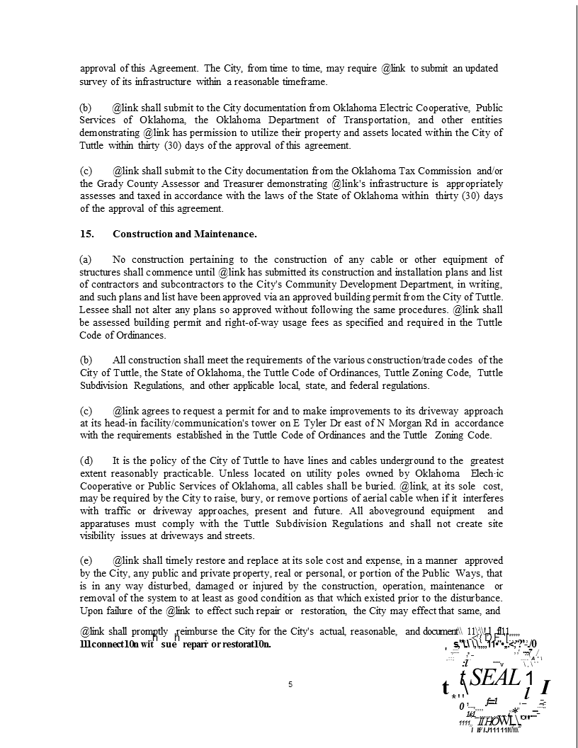 Wireless Internet Franchise Agreement 5