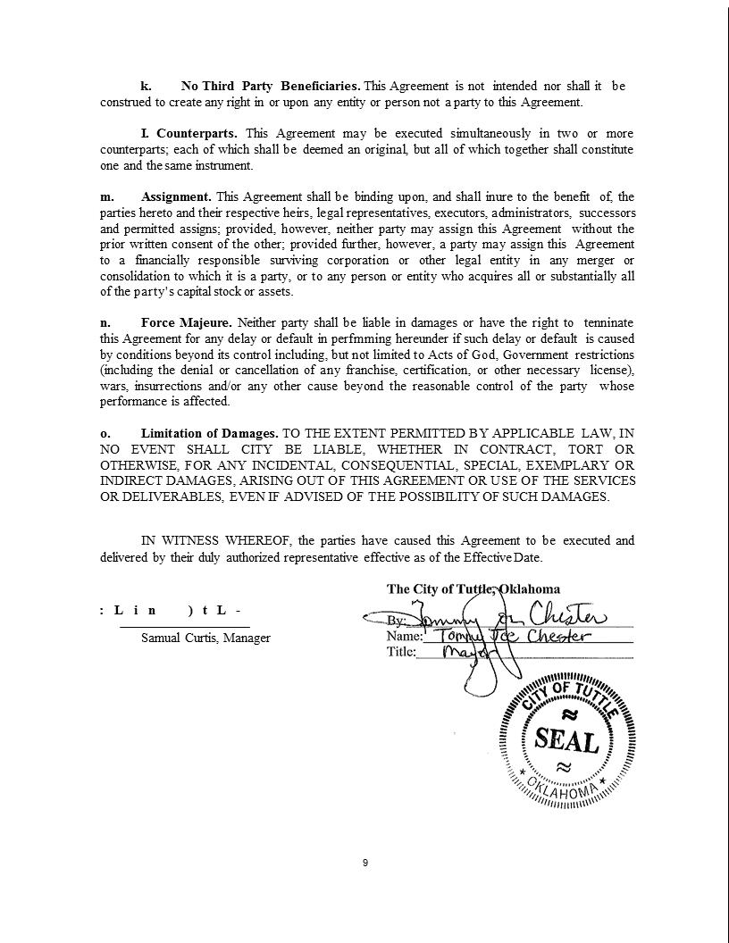 Wireless Internet Franchise Agreement 9