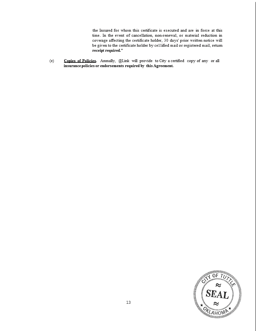 Wireless Internet Franchise Agreement 13