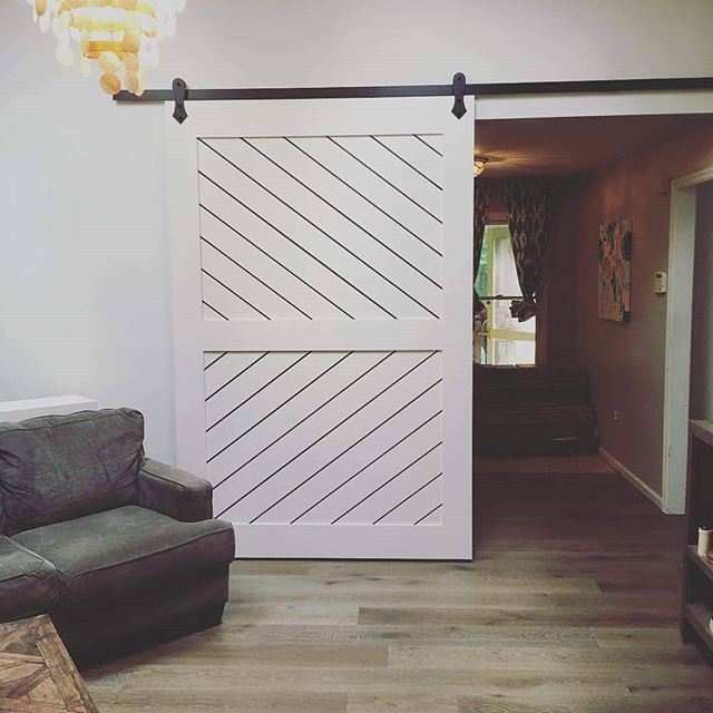 8' x 5' Custom barn door--Painted maple.