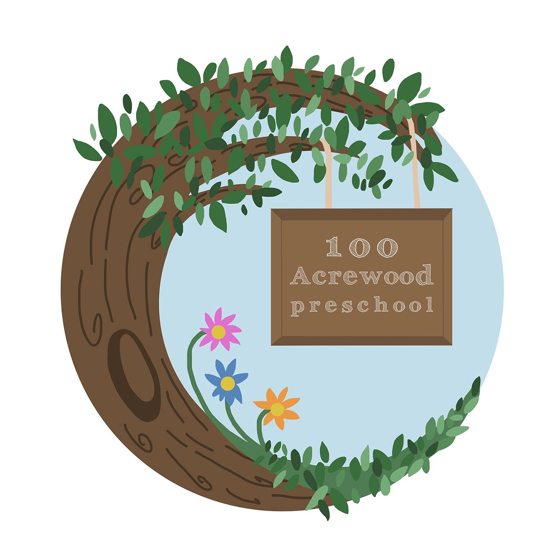 100 Acrewood preschool Logo