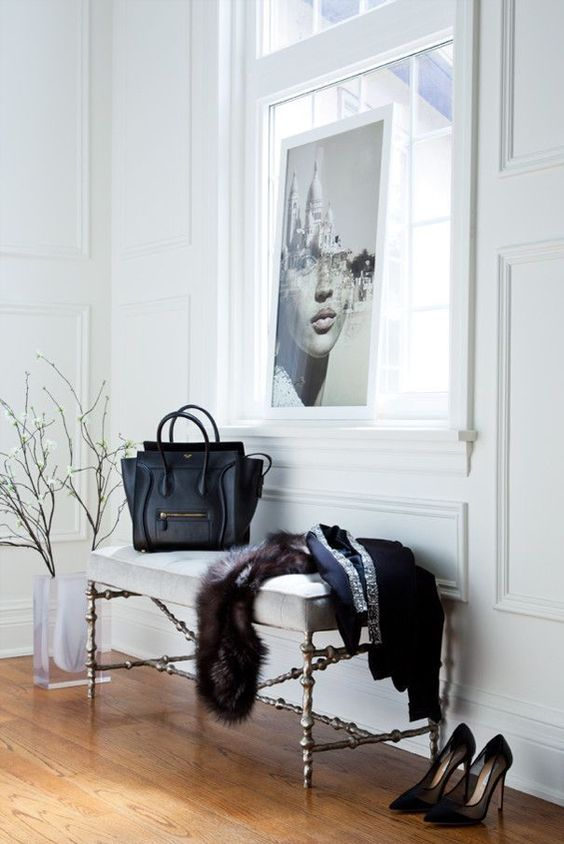 B&W Interiors - All WHITE rooms with black decor throughout adds high drama. Black evokes sophistication; white communicates pureness. There's a sexiness to it unsurpassed