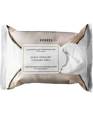 KEEP IT CLEAN - Whether you travel in a private jet or in the dreaded middle seat, plane air will deplete the skin. Refresh before landing with Korres cleansing and make-up removing wipes.. Then, add a little rouge and mascara, and hit the ground running!